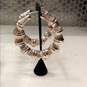 Jewelry - Bamboo Hoop Earrings